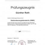 Zertifikat: Gebäudeenergieberater (HWK)