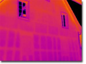 Thermografiebild: Verputztes Fachwerk