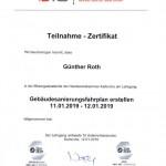 Zertifikat: Sanierungsfahrplan